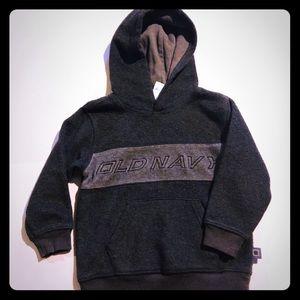 Dark gray old navy pull over hoodie